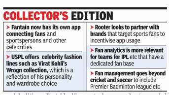 Startups bring fans closer to sport idols