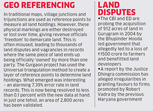 Gurgaon project created most accurate maps for an area known for disputed property