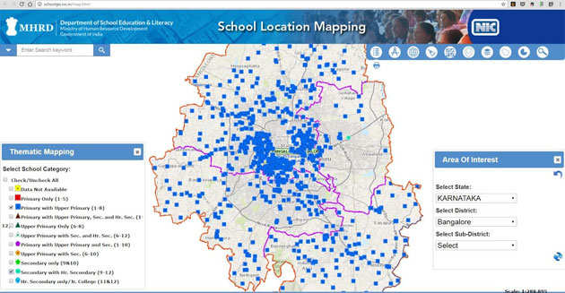 With 76,000 schools on GIS map, Karnataka looks at ytics ... on 3d map making, geography map making, cartography map making, architecture map making, cad map making, archaeology map making,