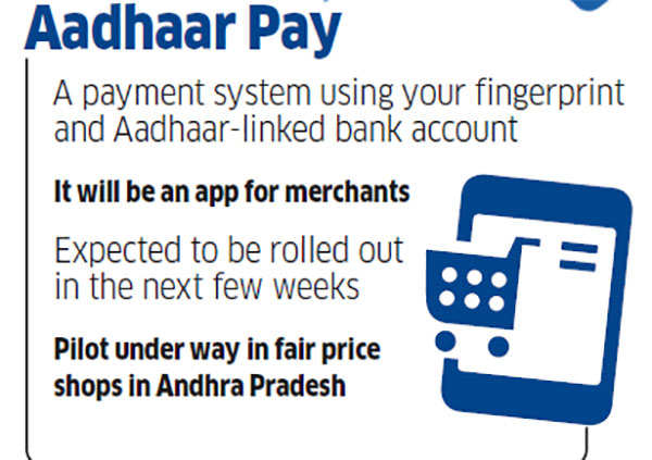 The soon-to-be launched Aadhaar Pay will let you make purchases using your fingerprint