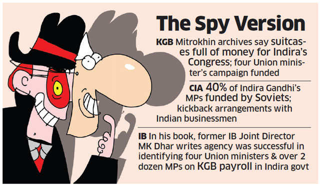 USSR supplied clandestine cash to Congress party: CIA