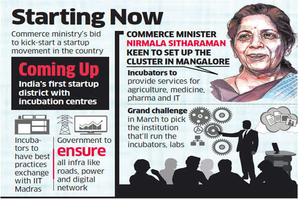 Government plans first startup district with incubators