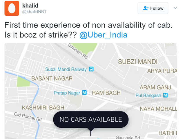 Uber and Ola drivers go on strike in Delhi & NCR