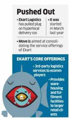 Flipkart in consolidation mode for Ekart, shuts down months-old services
