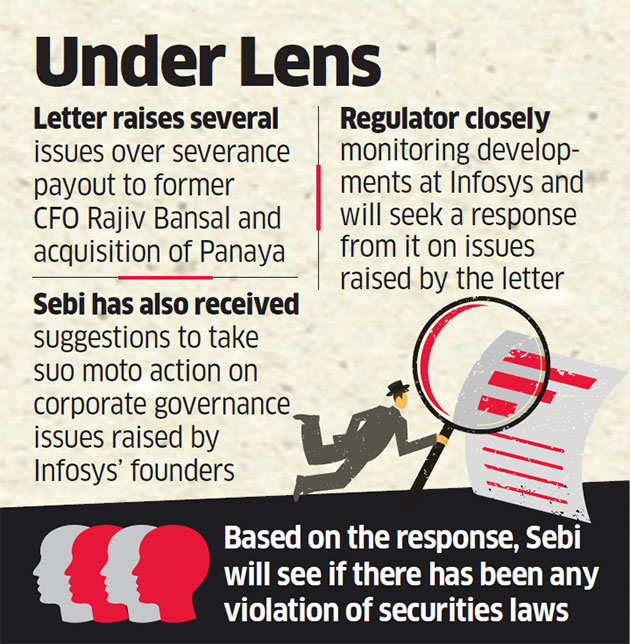 Sebi examining letter from Infosys whistleblower