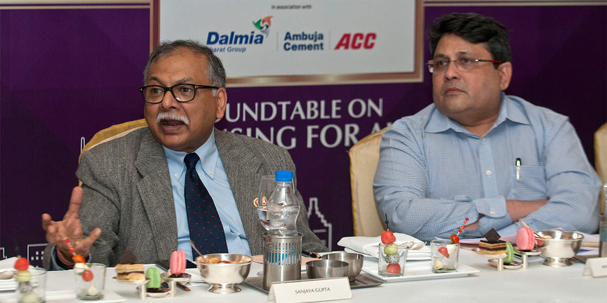 Sanjaya Gupta, MD, PNB and Shrikant Paranjape, Chairman, Paranjape Schemes constructions