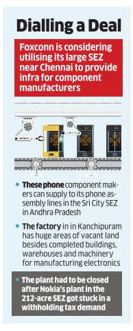 Foxconn may open up its Chennai SEZ for phone component firms