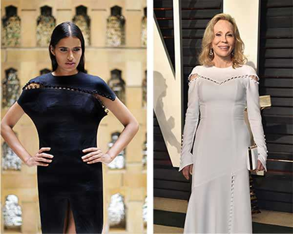 Was Prabal Gurung's Oscar outfit for Faye Dunaway 'copied' from Shivan-Narresh's designs?