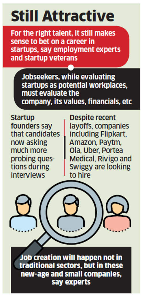 Despite slowdown, a startup is still the place to start your career