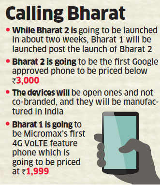 Micromax aims to sell 6 million Bharat handsets
