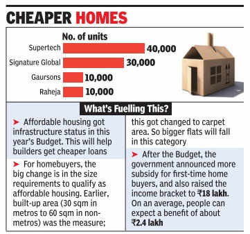 Builders plan over 1 lakh affordable housing units in NCR