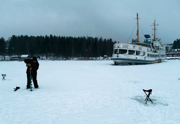 Snow season in Finland is winter wonderland with hail showers, reindeer sleds and ice fishing