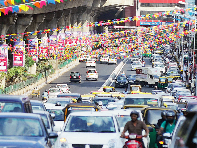 c18837f171 Bengaluru traffic jams  Number of vehicles in Bengaluru rises by a ...