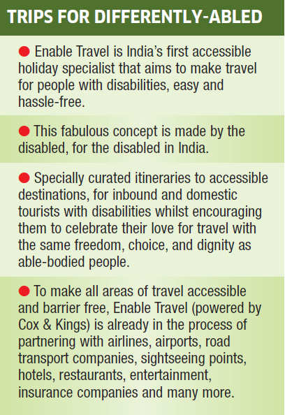 India is getting friendlier for the differently-abled! This summer, plan a surprise holiday with your parents