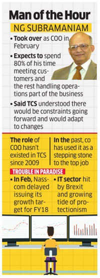 TCS COO, NG Subramaniam sees healthy demand in a tough FY18