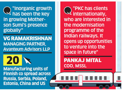 Motherson Sumi likely to foray into railways segment through PKC acquisition