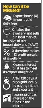 New gold export rule can be misused