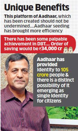 Aadhaar scheme helped government save Rs 34,000 crore: Finance Secy