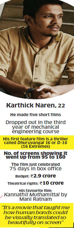 Karthick Naren: One of the youngest filmmakers to have a blockbuster under his belt - the Tamil whodunit D-16