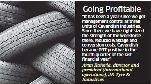 Cavendish Industries gets a turnaround after takeover by JK Tyre