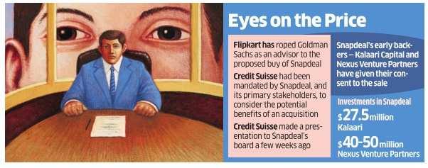 Goldman, Credit Suisse to set terms for Flipkart's Snapdeal buy