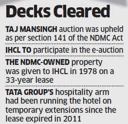SC allows NDMC to e-auction Delhi's iconic Taj Mansingh hotel