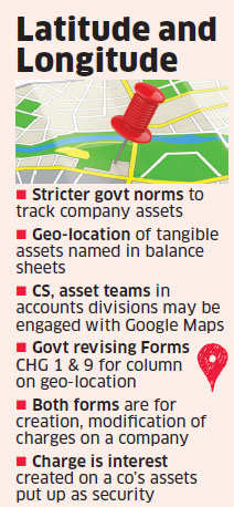 Government makes geo-location of tangible assets mandatory for firms
