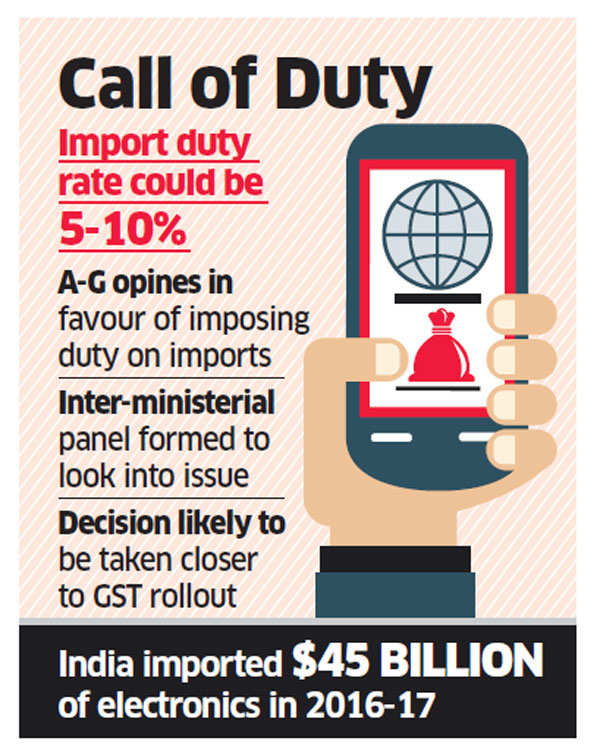 GST impact: Government may slap customs duty on imported mobile phones
