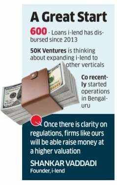 i-lend plans to venture out with funds from 50K