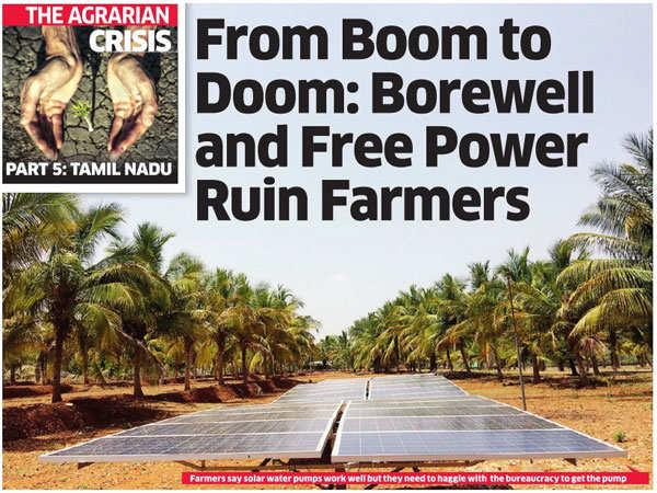 Agrarian crisis: Borewell and free power ruin Tamil Nadu farmers