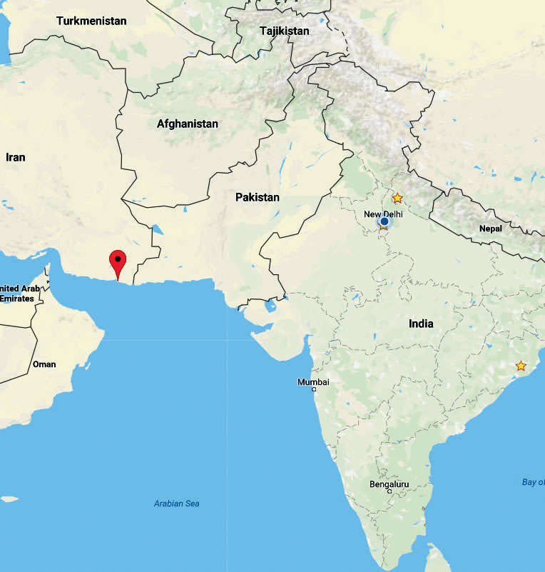 Map Of Iran And India Kulbhushan Jadhav: Inside Chabahar, the Iranian port city that