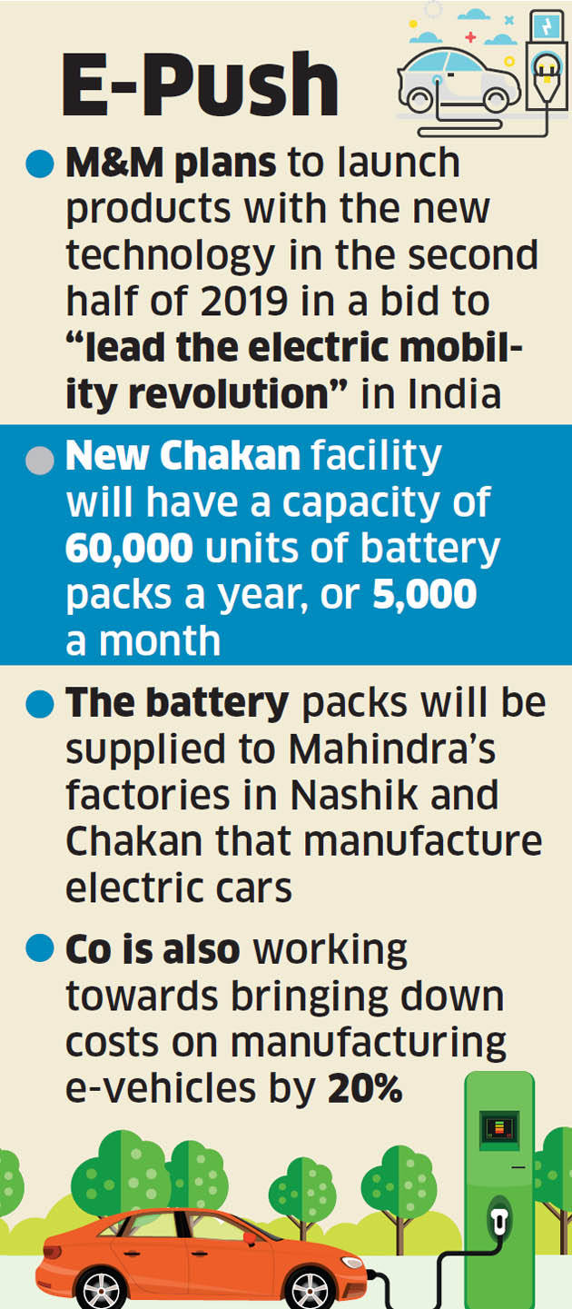M&M ramps up facility at Chakan for electric vehicle batteries - The ...
