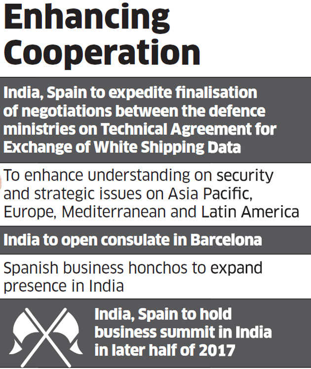 India, Spain sign 7 agreements, decide to widen defence ties