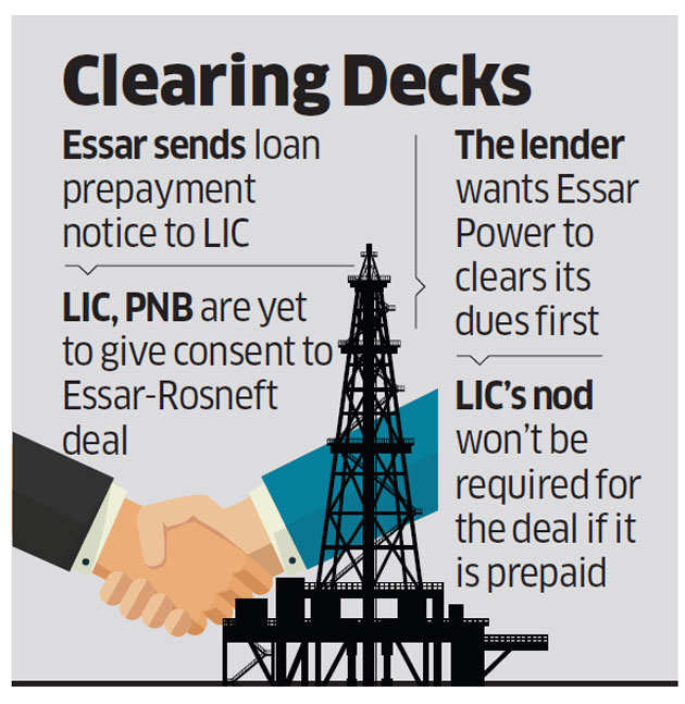 Essar offers to prepay LIC to save Rosneft deal