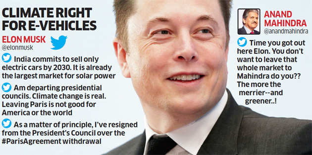 Elon Musk hails India's aim to move to an all-electric fleet by 2030