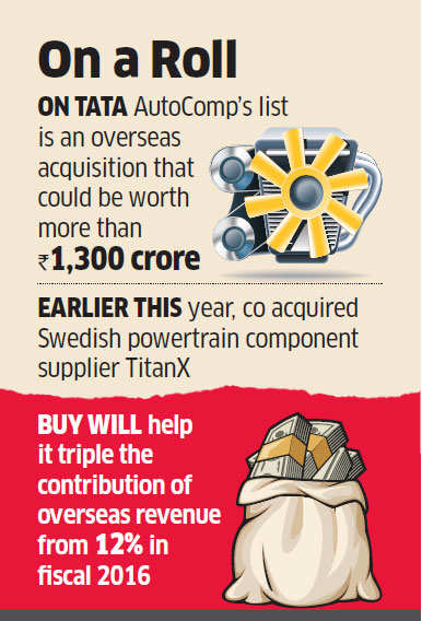Tata AutoComp systems eyes more foreign acquisitions in quest to expand