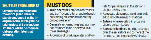 Bangalore Metro needs to meet these 65 conditions before its launch