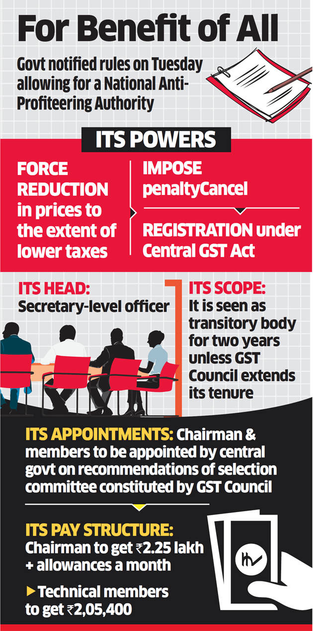 Companies may lose their registration if they fail to pass GST benefits to you