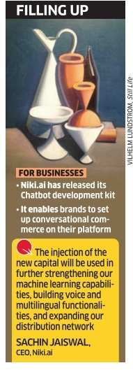 $2 million in Series A will now add to Niki.ai's Smarts
