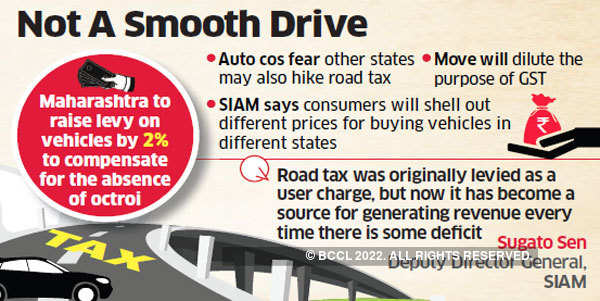 Automobile industry wary of states increasing road tax, which is outside GST