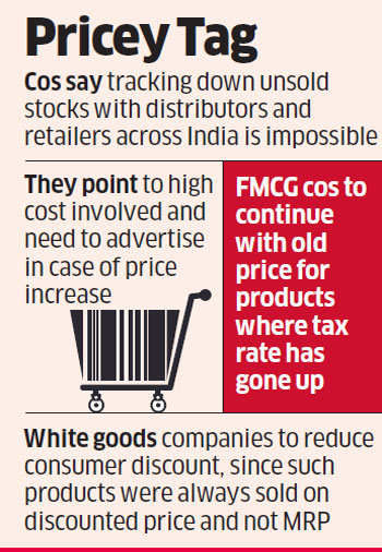 fmcg: GST: Changing price labels on stock operational & logistical