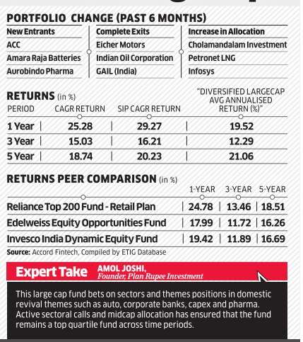Fund review: Reliance Top 200 Fund (G) - The Economic Times