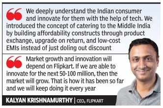 Kalyan Krishnamurthy: Flipkart outsells Amazon in all categories, except grocery
