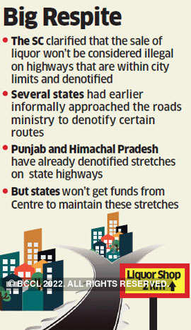 States may get to end dry days on national highways passing via cities