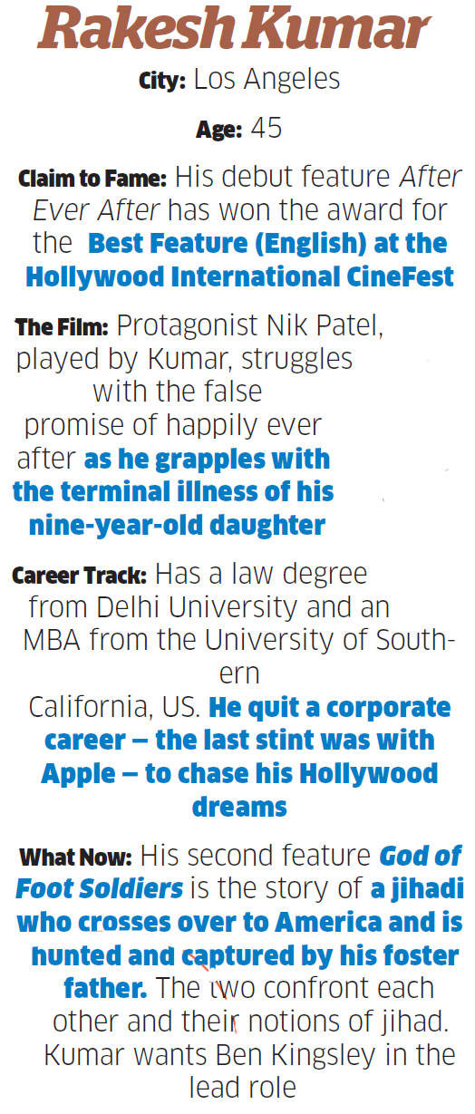 From the corner office to helming the camera: 45-year-old rookie director Rakesh Kumar's journey