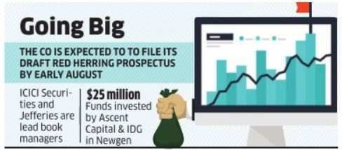 Newgen may debut with Rs 500-crore issue