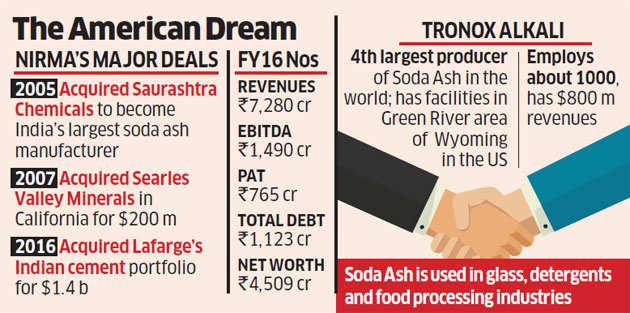 Nirma sets eyes on world's fourth largest soda ash producer - The