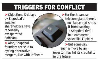 SoftBank toughens stand on Snapdeal-Flipkart merger