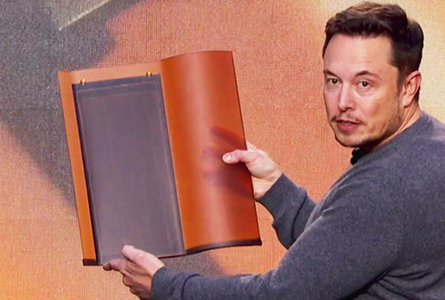 Elon Musk: Tesla finishes first solar roofs — including Elon