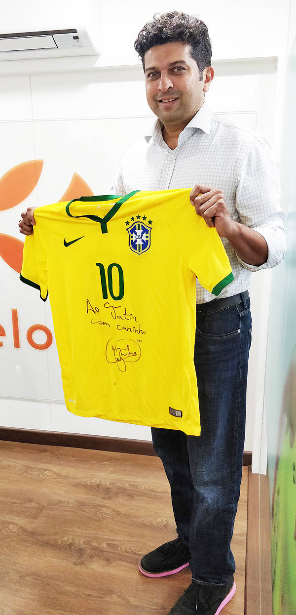 325bef15eee Why Neymar's autographed T-shirt is special for former India cricketer  Jatin Paranjpe
